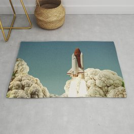 Houston we have cauliflower - Rocket take-off Rug