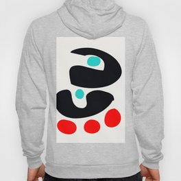 Abstract Art Minimalism Blue Black and Red Hoody