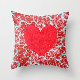 Frosty heart Throw Pillow