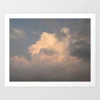 Cloud Monster Art Print