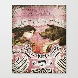 La Belle et la Bete Canvas Print