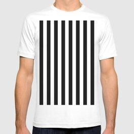 Parisian Black & White Stripes (vertical) T-shirt