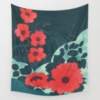 ruby Wall Tapestries featuring Ruby by Tracie Andrews