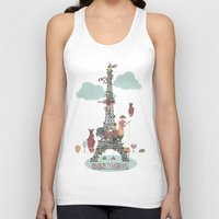 eiffel tower Tank Tops featuring Eiffel Tower by ShangheeShin