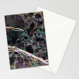 Black golden marble Stationery Cards