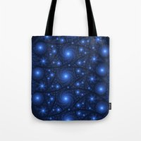 starry night Tote Bags featuring Starry Starry Night by Lyle Hatch