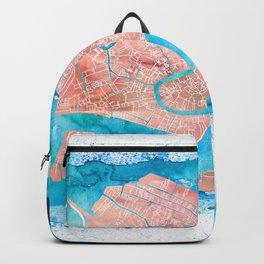Venezia Italia Clean Iconic City Map Backpack