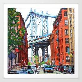 Manhattan Bridge, View From Dumbo Brooklyn Art Print