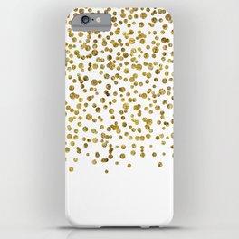 Gold Confetti Sparkle and Shine iPhone Case