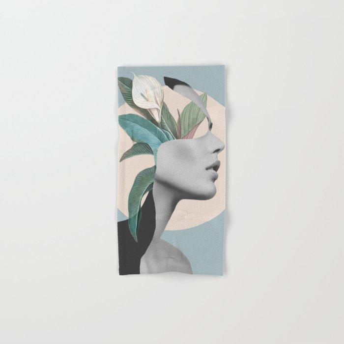 Floral Portrait /collage Hand & Bath Towel