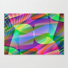 Abstract Digital Crystal #1 Canvas Print