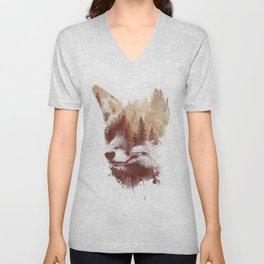 Blind fox Unisex V-Neck