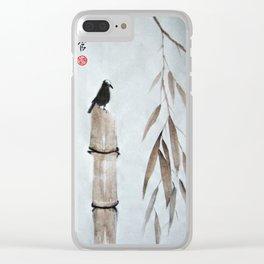 Lone Bird Clear iPhone Case