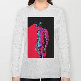 Glenn Rhee - Retrowave Long Sleeve T-shirt
