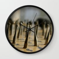 tool Wall Clocks featuring Jewel tool by Tamar Isaak