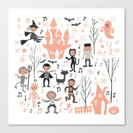 Love shack monsters halloween party Canvas Print