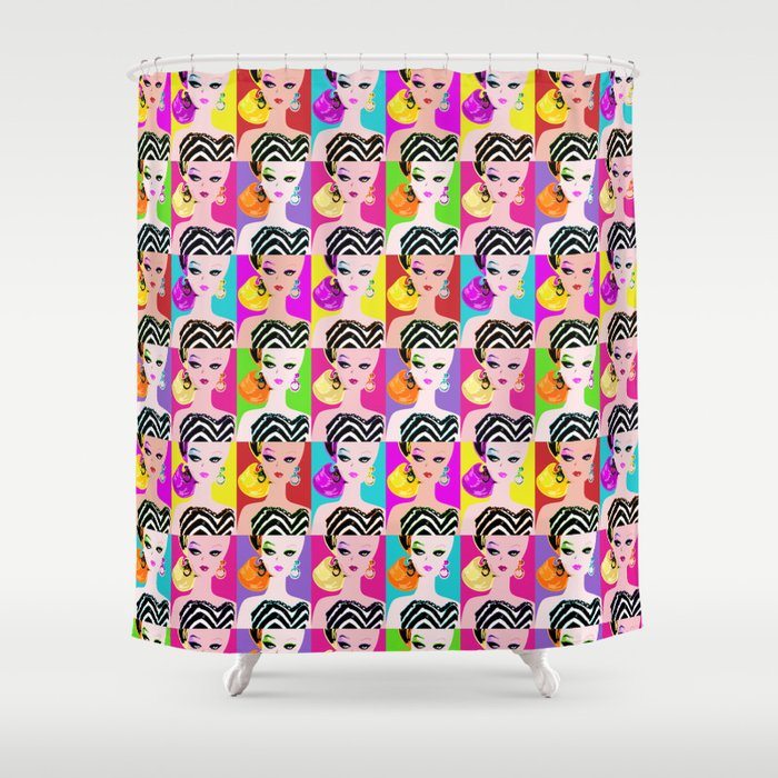 Pop Art Barbie Shower Curtain