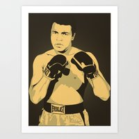 ali Art Prints featuring Ali by Renan Lacerda