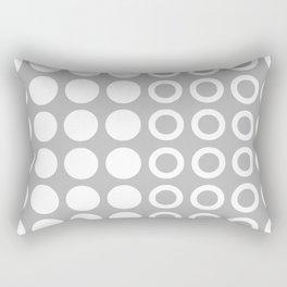 Mid Century Modern Circles And Dots Grey 2 Rectangular Pillow