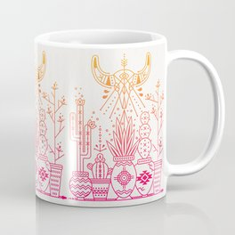 Santa Fe Garden – Pink/Orange Ombré Coffee Mug
