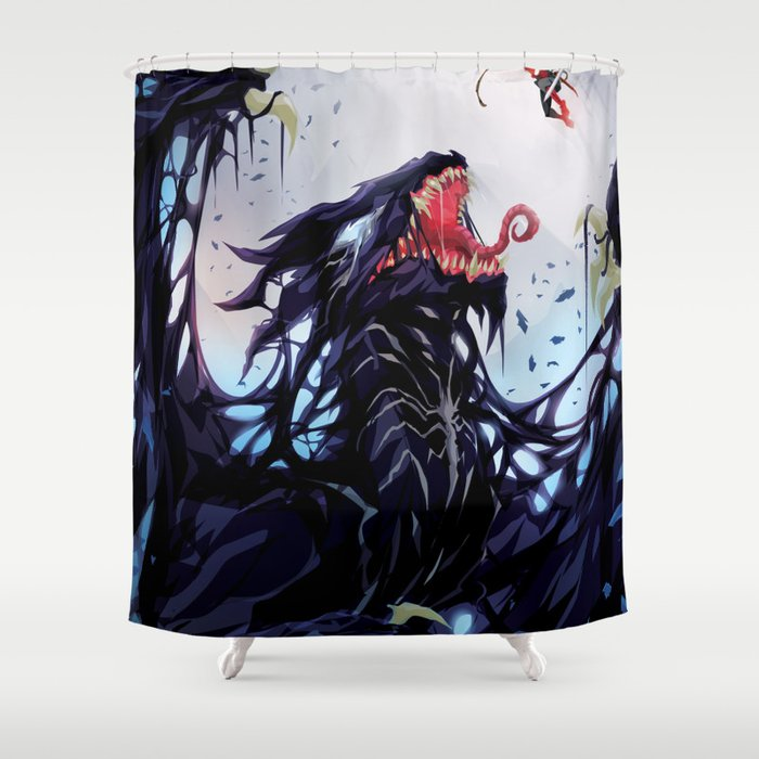 Venom Dragon Shower Curtain