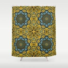 Gothic blue pattern Shower Curtain
