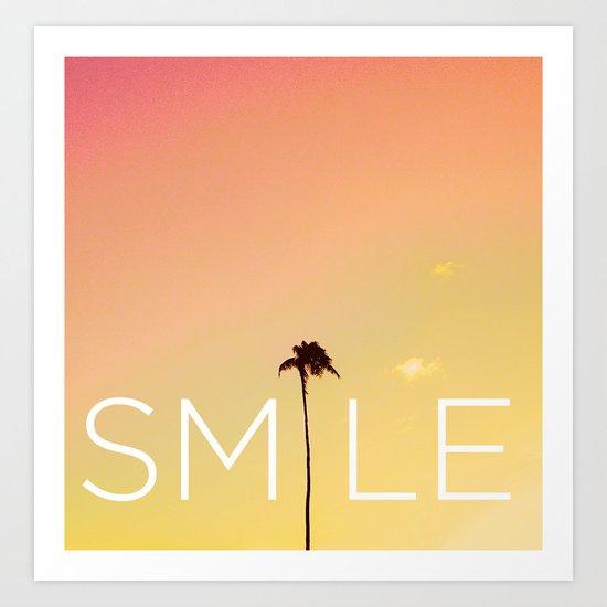 Palm Tree Smile new Hue Art Print