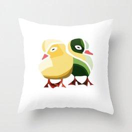 Pato Amarillo Throw Pillow