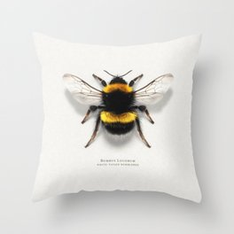 Bombus Lucorum Throw Pillow