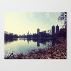 Chicago Reflected Skyline From The North Canvas Print