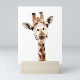 Giraffe Head Mini Art Print