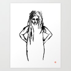 Girls That Lie No.1 Art Print