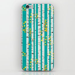 Birch wood iPhone Skin