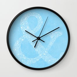 Ampersand of Ampersands Wall Clock