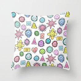 Happy happy happy Throw Pillow
