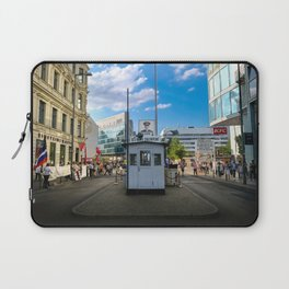 Checkpoint Charlie in Berlin Laptop Sleeve