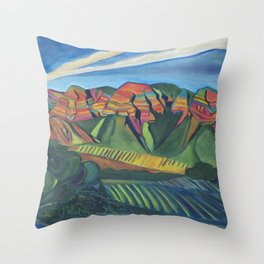 Topa Winery Throw Pillow