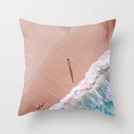 Morning sea Throw Pillow