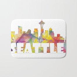 Seattle Washington Skyline MCLR 2 Bath Mat