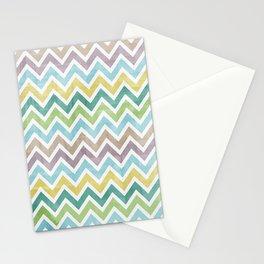 Pastel grunge zigzag Stationery Cards