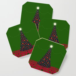 Christmas Tree with Glowing Star Coaster