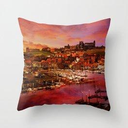 Whitby Port Throw Pillow