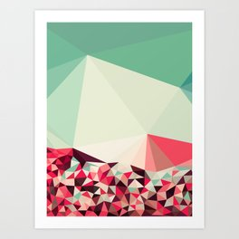 Poppy Field Tris Art Print