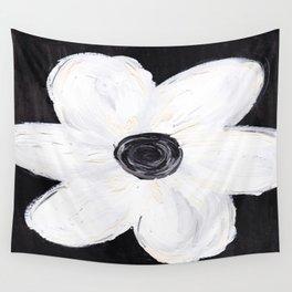 White Flower Wall Tapestry