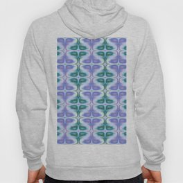 Blue Retro Beehive Abstract Hoody