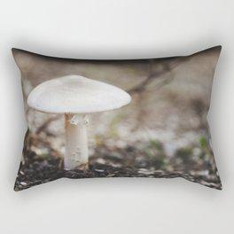 Lone Mushroom Rectangular Pillow