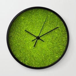 Peridot Green Sparkling Jewels Pattern Wall Clock