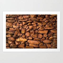 The Rock Wall  Art Print