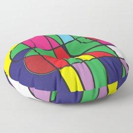 The flow color block minimalist modern art Floor Pillow
