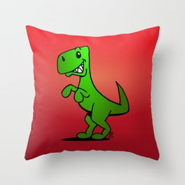 T-Rex - Dinosaur Throw Pillow